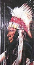 Indian Chief Bamboo Beaded Curtain