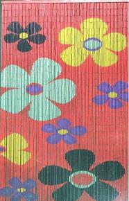 Daisies Bamboo Beaded Curtain