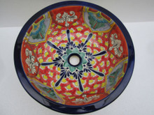 Hand Painted Round Drop In Ceramic Sink - many styles available