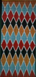 Artistic Diamonds Bamboo Beaded Curtain