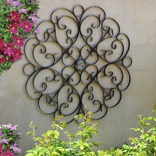 Tuscan Medallion Scroll Wall Grille