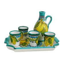 Cielo Limoncello Carafe, Glasses & Tray Set
