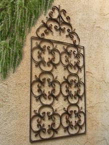 French Tuscan Wrought Iron Gate Wall Art