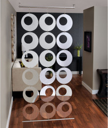 Mirrored Hanging Room Divider