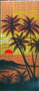 Kona Beach Bamboo Beaded Curtain