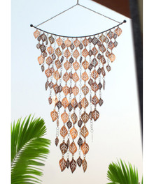 Copper Cascading Leaves Wind Art Wind Chimes