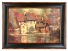 Large Vino Nobile Framed Oil Painting