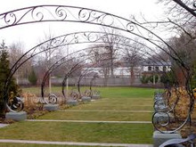 Scalla Scroll Wrought Iron Arch - custom sizes, designs