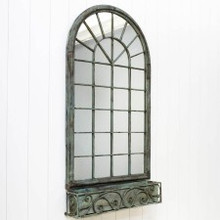 Arch Window Wall Mirror and Planter