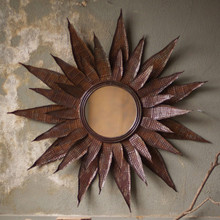 GIANT METAL FLOWER MIRROR