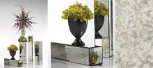 Antique Mirror Columns works as a reversible planter, multiple sizes