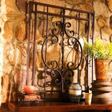 Bristol Large Metal Wall Grille Decor
