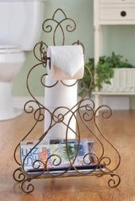 Fleur de Lis Toilet Paper & Magazine Stand
