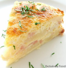 Ham and Potato Baked Casserole - (Free Recipe below)