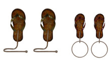 Flip Flops Wall Hooks - Set of 4