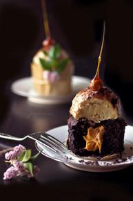Banana Chocolate Vegan Cake w/ Vegan Banana Ice Cream - (Free Recipe below)