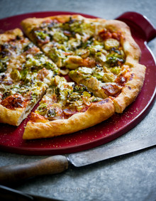 Bacon, Brussels Sprouts Pizza - (Free Recipe below)