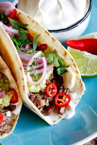 "Slow Braised Short Rib Tacos w/ Pickled"" Red Onion - (Free Recipe below)"