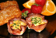 Breakfast Ham or Turkey Cups - (Free Recipe below)