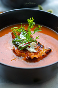 FRESH ROASTED TOMATO SOUP - (Free Recipe below)