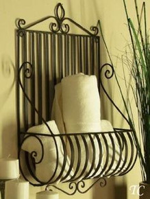 Mediterranean Tuscan Wrought Iron Metal Wall Planter