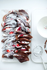 Chocolate Crepes with Strawberries & Cream - (Free Recipe below)