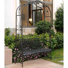 Classic Wrought Iron Arbor Bench