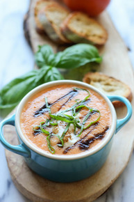 Caprese Tomato Soup - (Free Recipe below)