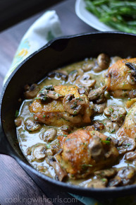 CHICKEN AU CHAMPAGNE - (Free Recipe below)
