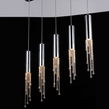 Jael 5 Light Pendant with Clear Crystals