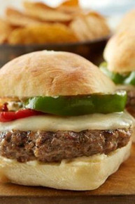 Meatball Provolone Burgers with Garlic Parmesan Aioli - (Free Recipe below)