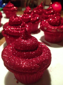 Glitterbomb Cupcakes - One Dozen w/ recipe below