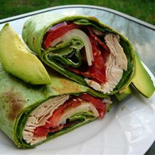 California Chicken Club Wraps - (Free Recipe below)