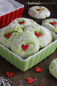 Grinch Cookies - One Dozen w/ recipe below