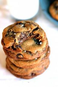 Nutella Stuffed Chocolate Chip Cookies w/ Sea Salt  - One Dozen w/ recipe below