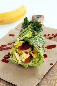 Cabbage Breakfast Burrito with Sweet Potato Noodles - (Free Recipe below)