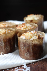 Banana Coconut Crunch Muffins - One dozen w/ recipe below