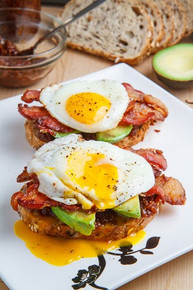 Bacon Jam Breakfast Sandwich with Fried Egg and Avocado - (Free Recipe below)
