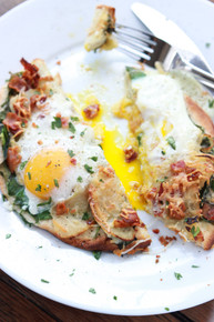 BACON, APPLE AND SWISS BREAKFAST PIZZA - (Free Recipe below)