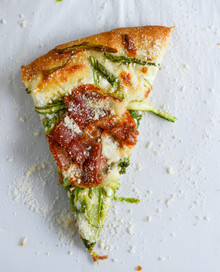 Asparagus and Whipped Ricotta Pizza - (Free Recipe below)