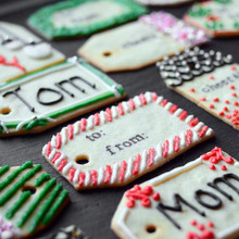 Edible Gift Tag Cookies - (Free Recipe below)