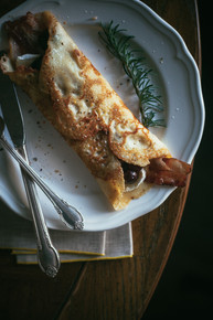 Bacon, Brie & Grape Stuffed Crepes - (Free Recipe below)