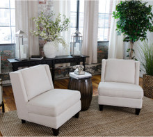 Malibu Fabric Armless Chair Set