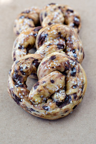 Chocolate Chip Brioche Pretzels, 8 included w/ recipe below