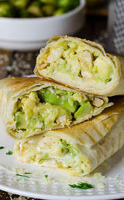 Chicken Avocado Wrap Burrito - (Free Recipe below)