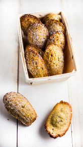 Rustic Pistachio Madeleines - One Dozen w/ recipe below