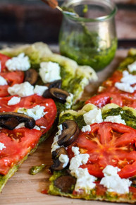 Grilled Goat Cheese and Pesto Pizza - (Free Recipe below)