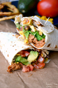 BBQ RANCH CHICKEN WRAP - (Free Recipe below)
