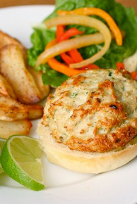 Chicken Tequila Burgers - (Free Recipe below)