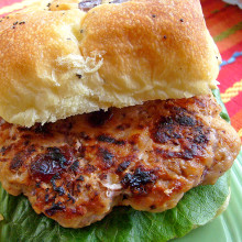 Grilled Cranberry Walnut Turkey Burger - (Free Recipe below)
